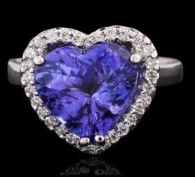 Heart Shaped Tanzanite Ring