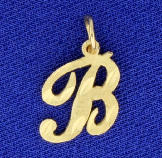 "Diamond Cut ""B"" Pendant"