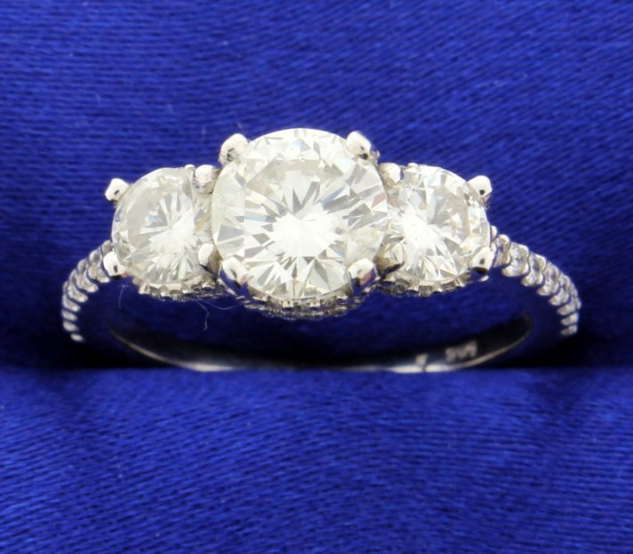 2 Carat TW Three Stone Diamond Ring