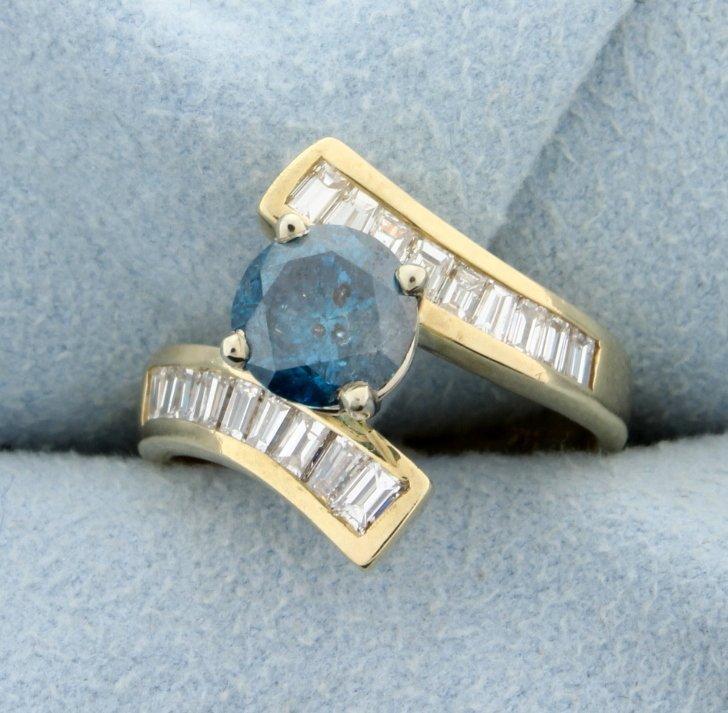 2.45 carat Blue Diamond ring
