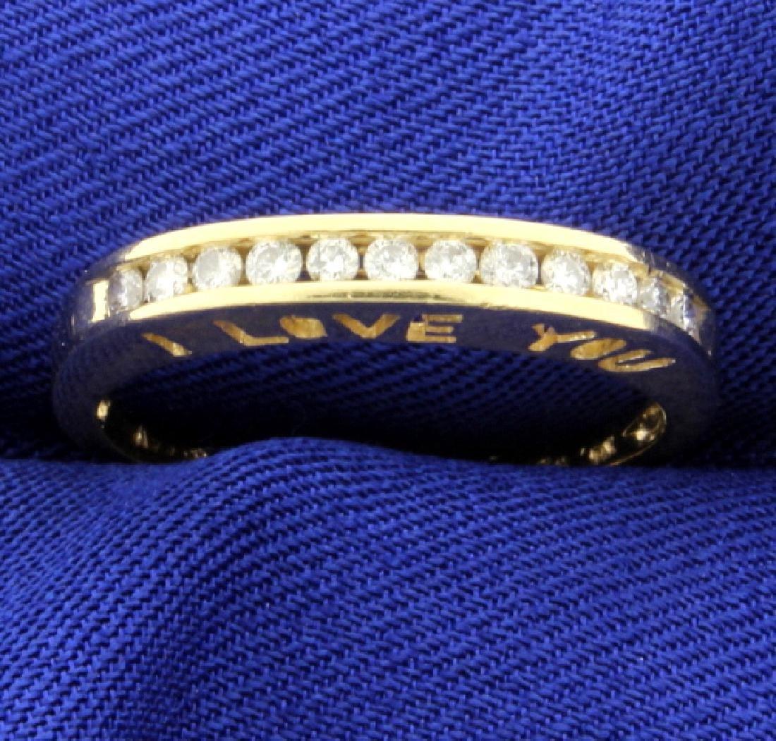 I Love You Diamond Band Ring