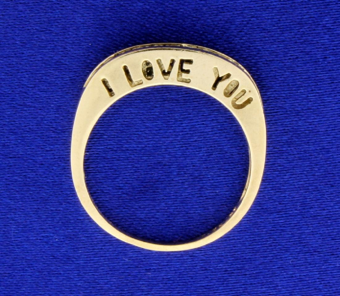 I Love You Diamond Band Ring - 3