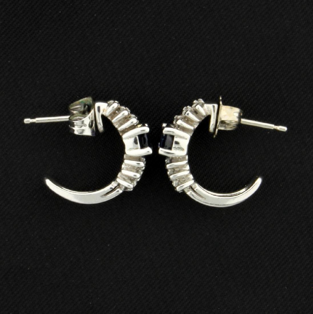 Sapphire & Diamond Earrings - 3