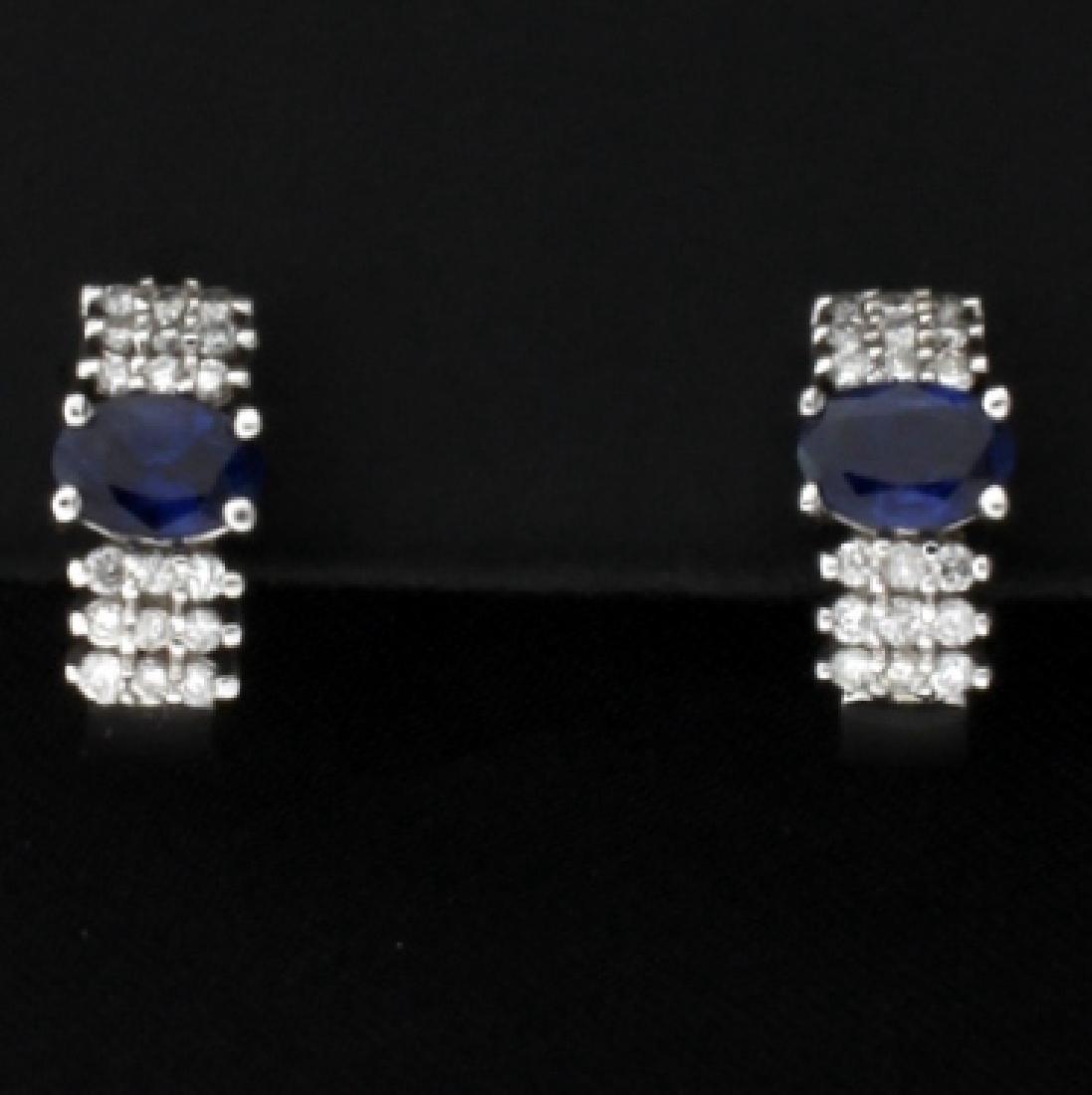 Sapphire & Diamond Earrings - 4