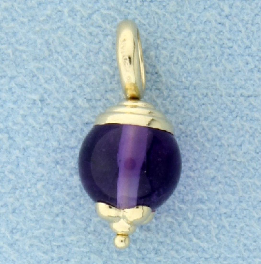 Amethyst Bead Pendant or Charm
