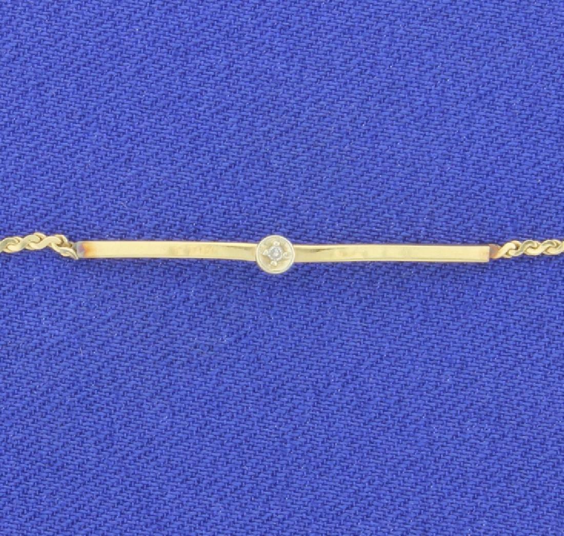 9 5/8 Inch Diamond Anklet - 2