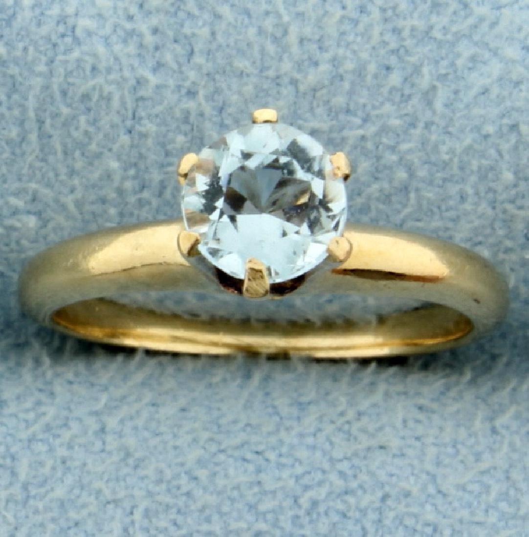 1/2ct Aquamarine Solitaire Ring