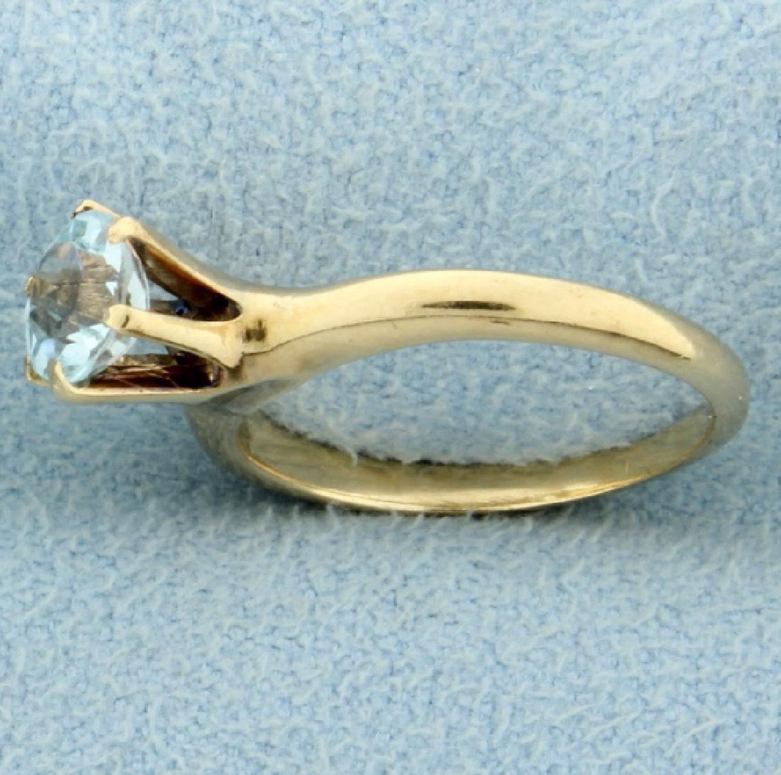 1/2ct Aquamarine Solitaire Ring - 2