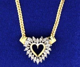 Italian Made Diamond Heart Necklace