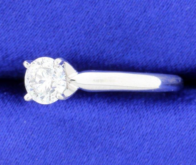 3/4 carat diamond solitaire ring - 2