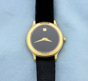 Movado Gold Tone Ladies Watch