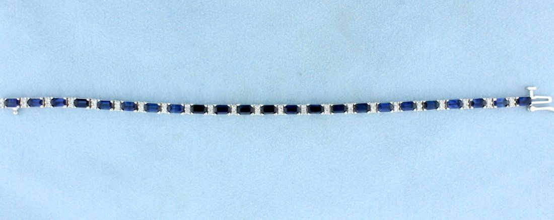 6 carat Sapphire & Diamond Bracelet