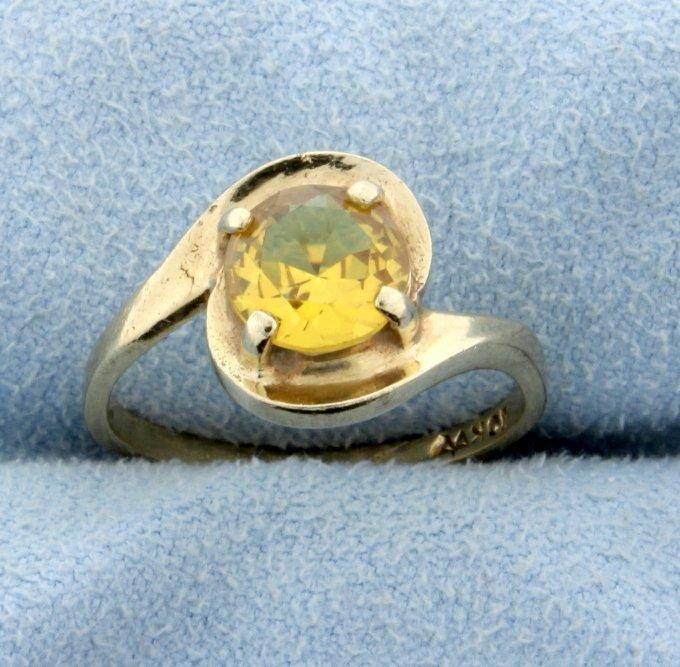 1.25ct Citrine Ring