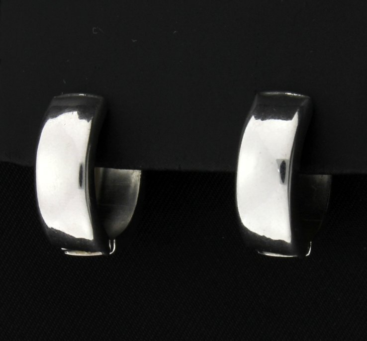 White Gold Hoop Earrings - 2