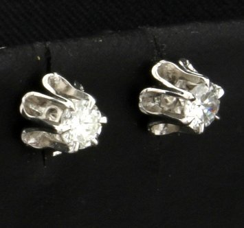 1/4ct Total Weight Diamond Earrings - 2