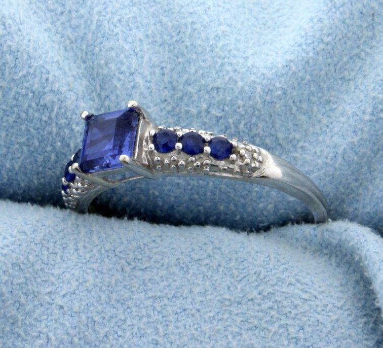 Sapphire and Diamond Ring - 2