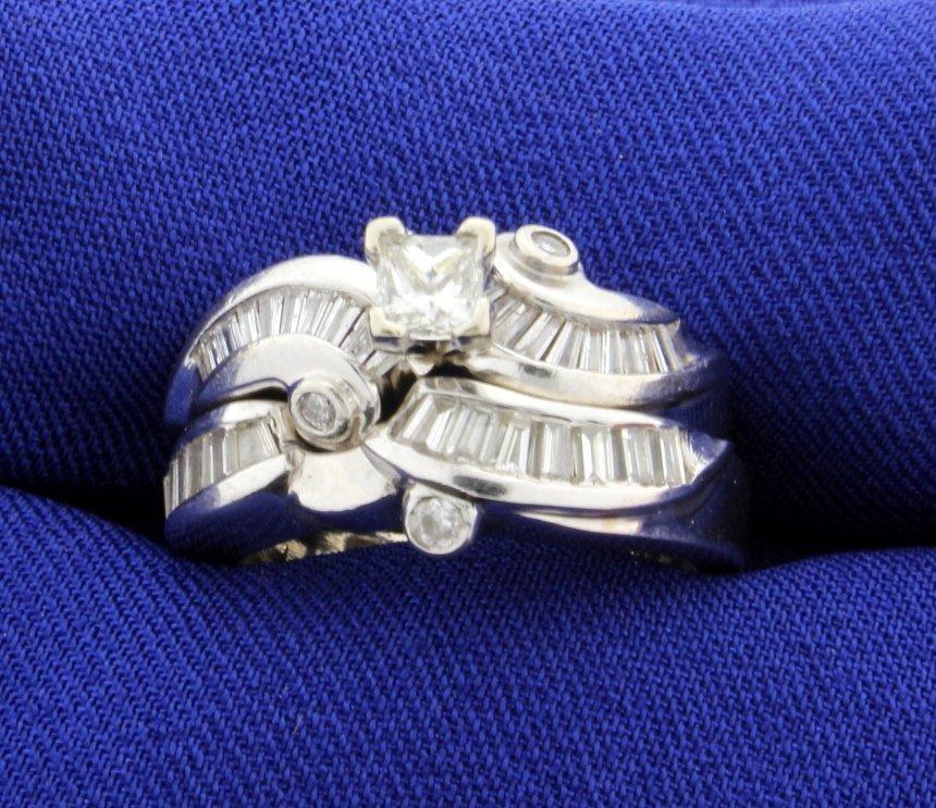 1.5 ct TW Diamond White Gold 2 Piece Wedding Set