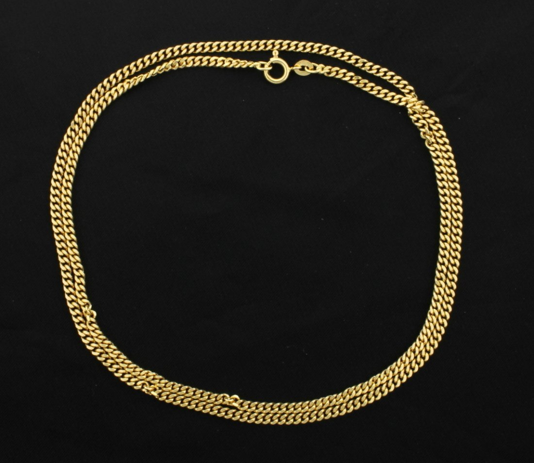 24 Inch 18K Yellow gold Cuban Link chain