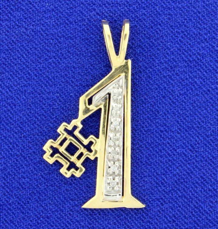 #1 Pendant with Diamonds
