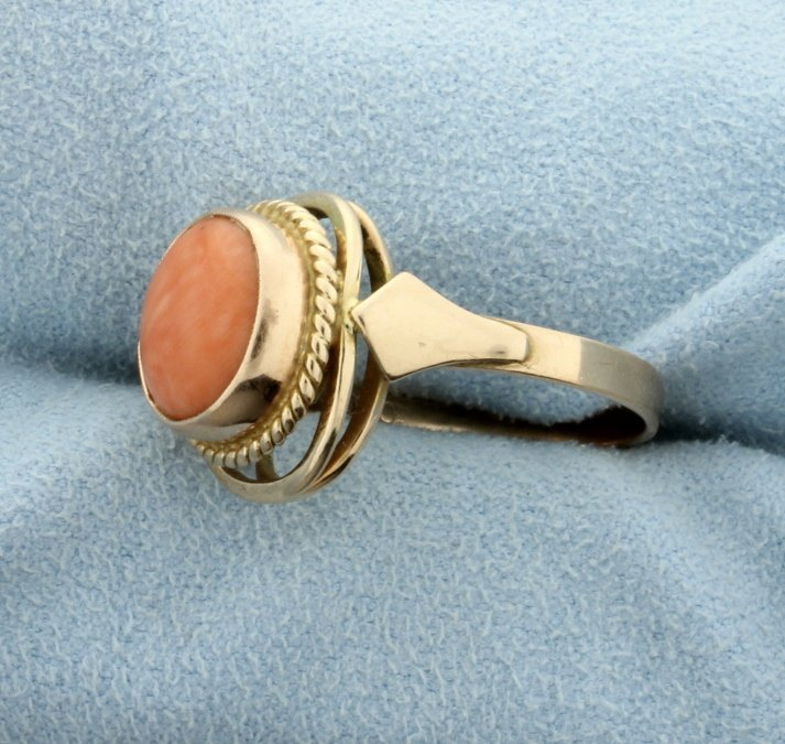 Pink Coral ring - 2