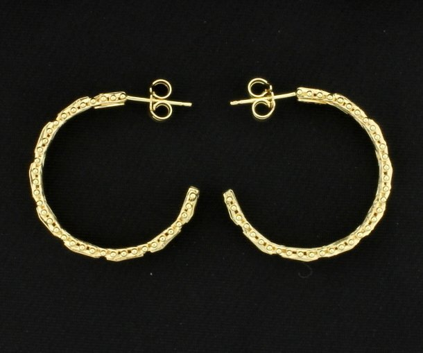 14K Yellow Gold Hoop Earrings - 2