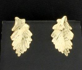 14K Leaf Earrings