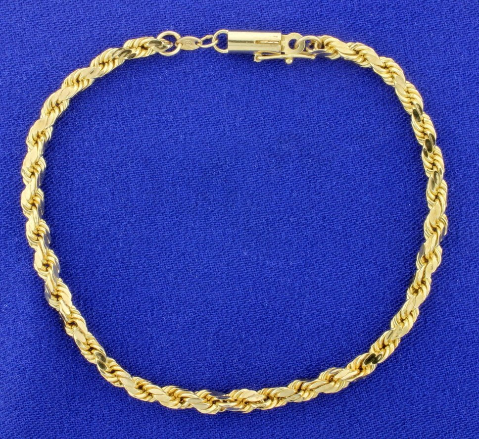 8 1/4 Inch Rope Style Bracelet