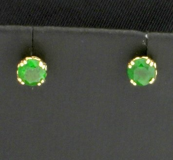 14K Tsavorite Garnet Earrings