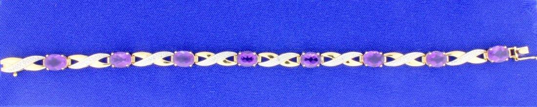 Amethyst & Diamond bracelet - 2