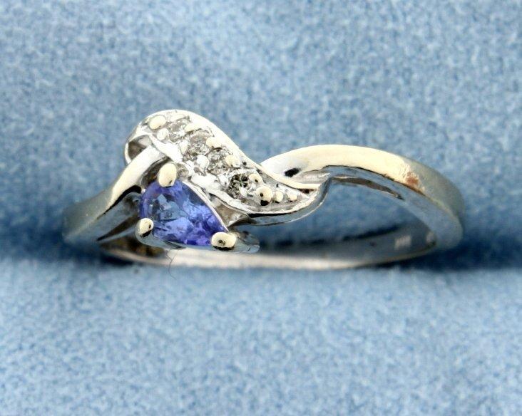 Tanzanite & Diamond ring - 2