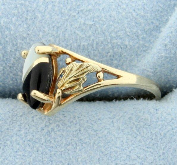 Onyx & Quartz Ying/Yang Ring - 2