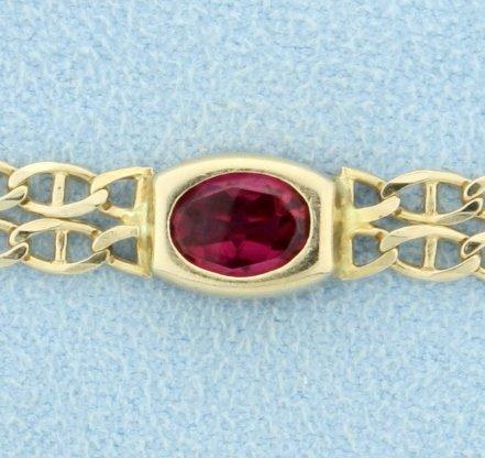 Multi-Color Gemstone Bracelet - 2
