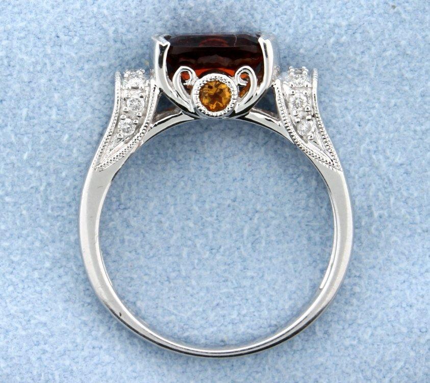 Citrine & Diamond ring - 2