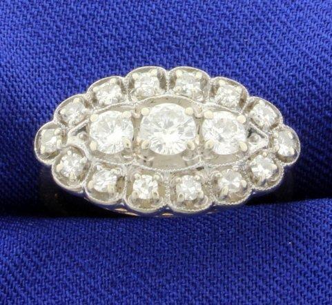 Vintage 1ct Total Weight Diamond Ring