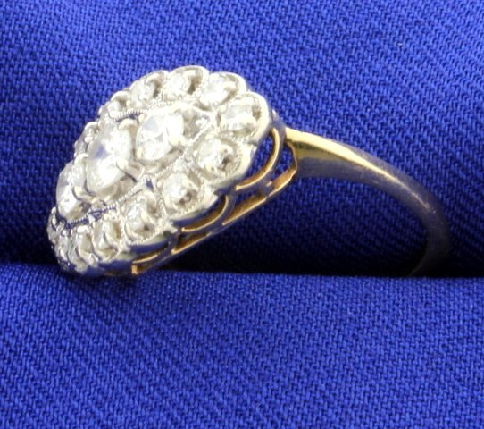 Vintage 1ct Total Weight Diamond Ring - 2