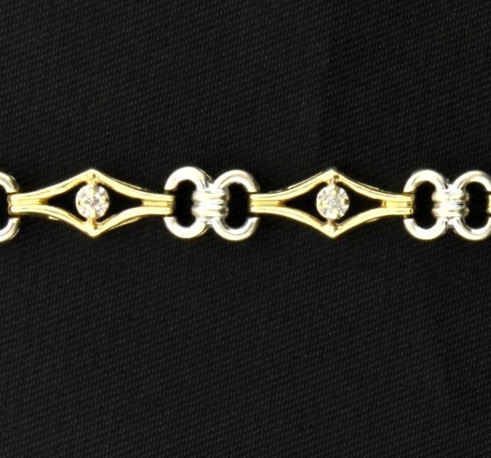 Yellow & White Gold Diamond Bracelet - 2