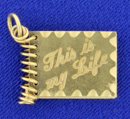 """""""This is My Life"""" Book Charm"""