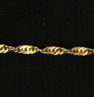 18 1/4 Inch Twisted Rope Chain - 2