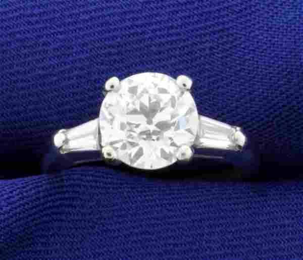 GIA Certified 2 1/2 ct TW Vintage Diamond Ring in