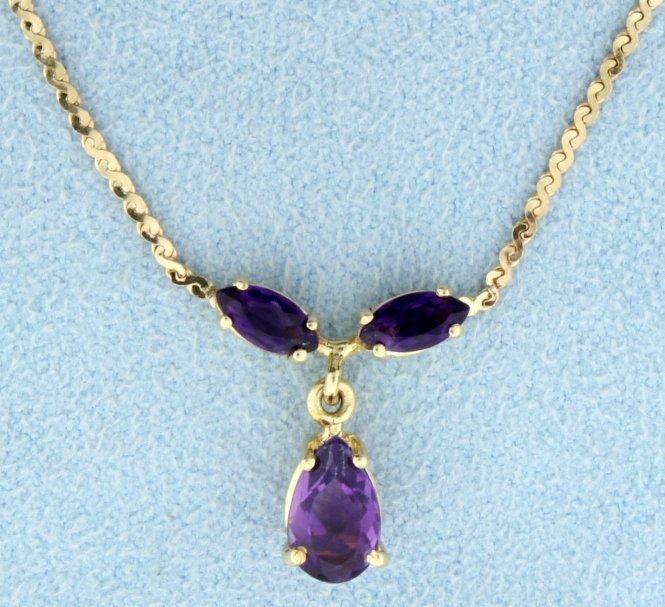 1.6 ct TW Amethyst Necklace