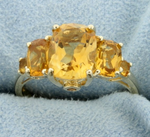 Over 3.6 ct TW Citrine Ring