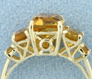 Over 3.6 ct TW Citrine Ring - 3