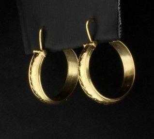 18K Hoop Earrings - 2