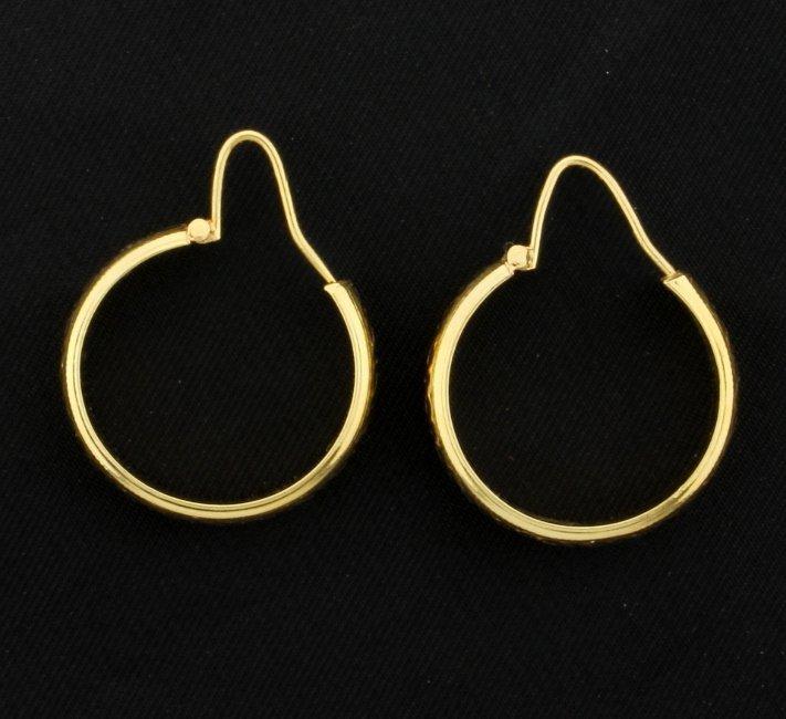 18K Hoop Earrings - 3