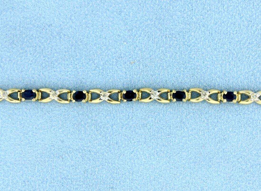 Sapphire & Diamond Bracelet - 2