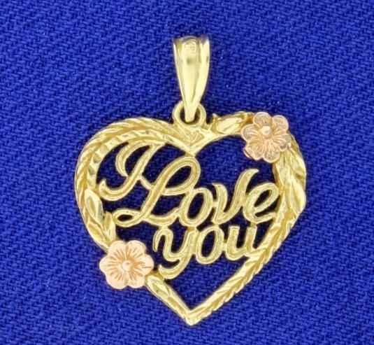 """"""" I Love You"""" Pendant"""
