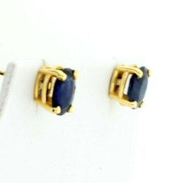 Sapphire Stud Earrings - 2