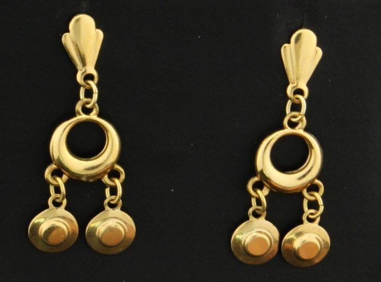 Triple Dangle Style Earrings