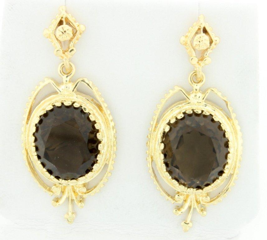 Vintage 10 carat Topaz Dangle 14k Earrings