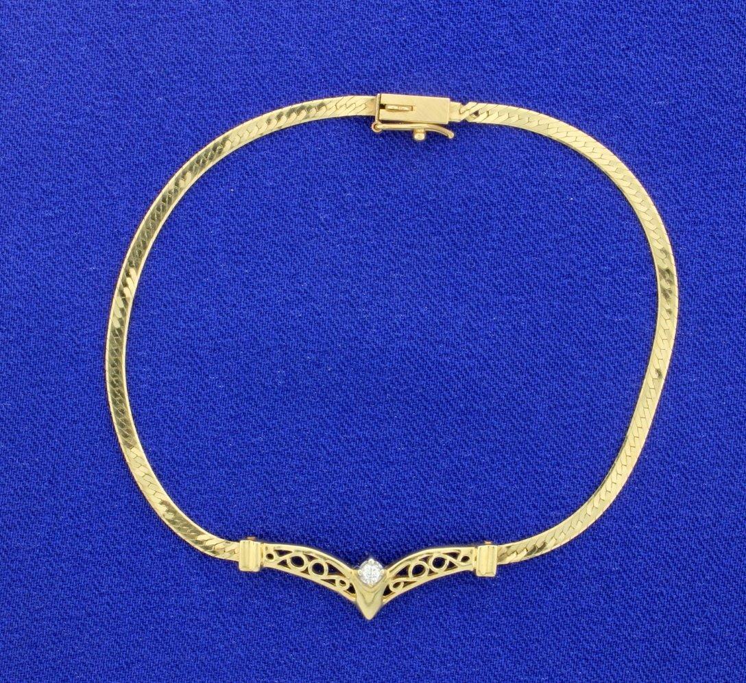 Diamond Herringbone Bracelet